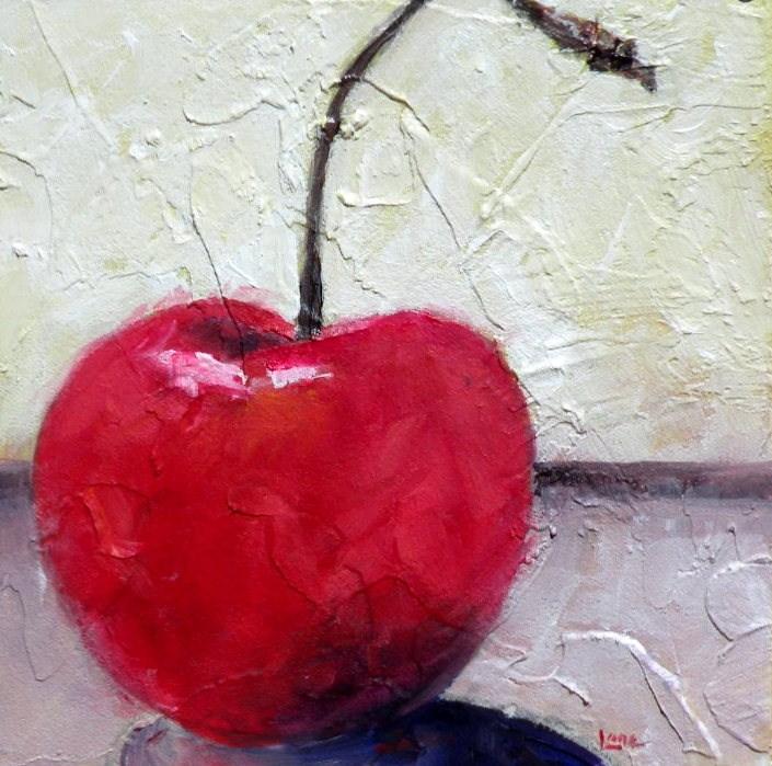 """BIG RED"" original fine art by Saundra Lane Galloway"