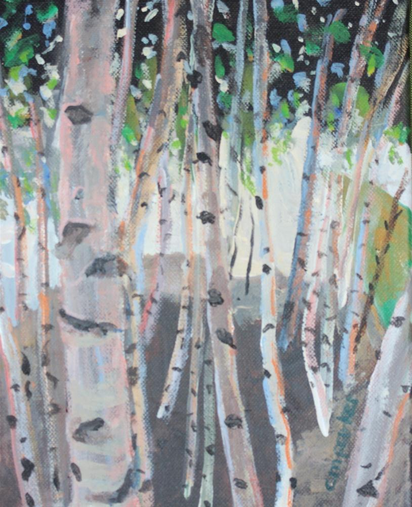 """Birch Trees"" original fine art by Christine Parker"