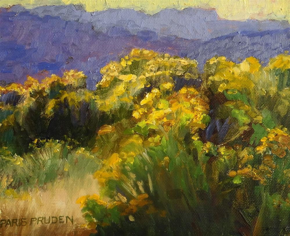 """Yellow Chamisa"" original fine art by Nancy Paris Pruden"