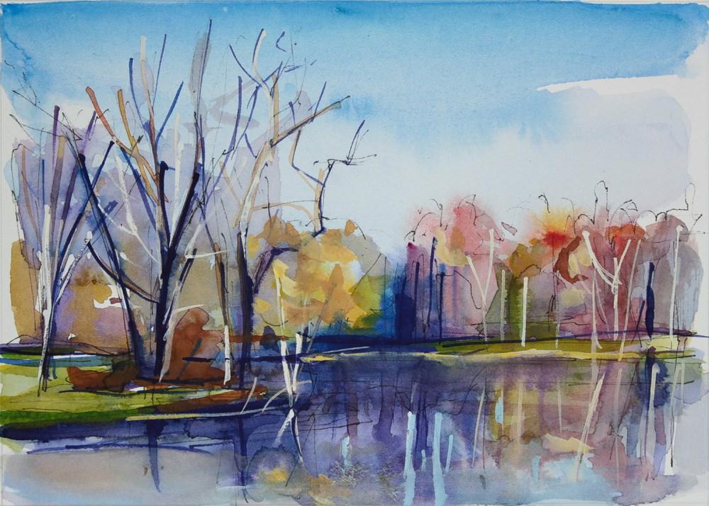 """Autumn Leaves"" original fine art by Chris  Breier"