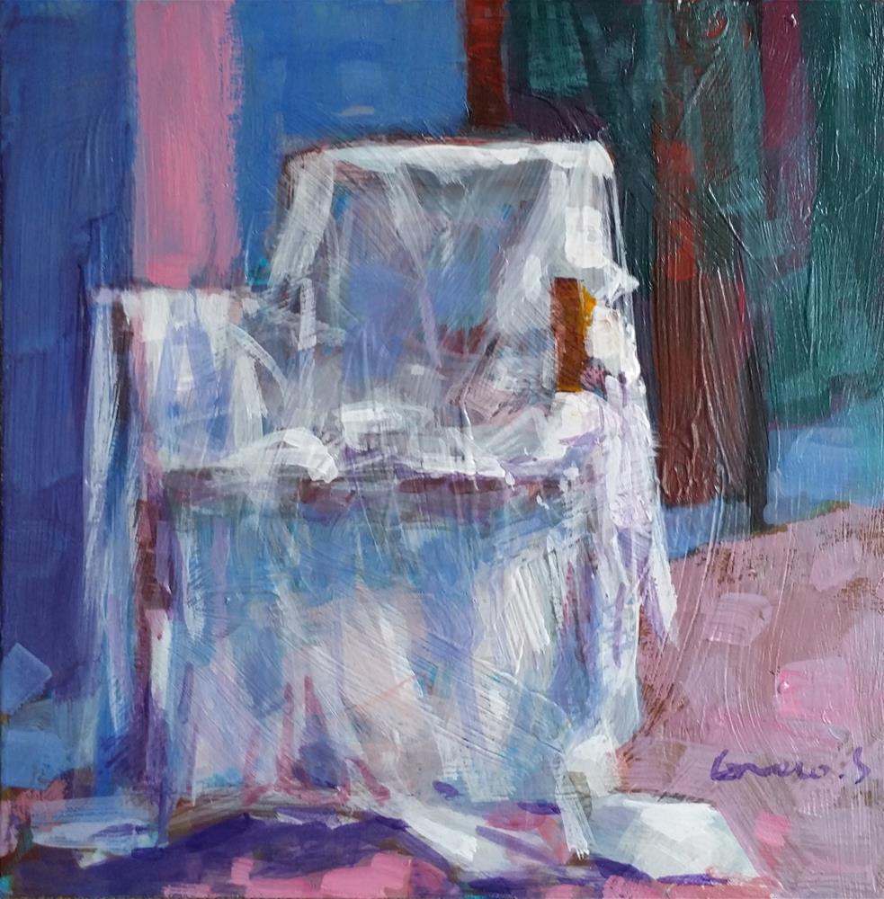 """linen on armchair"" original fine art by salvatore greco"