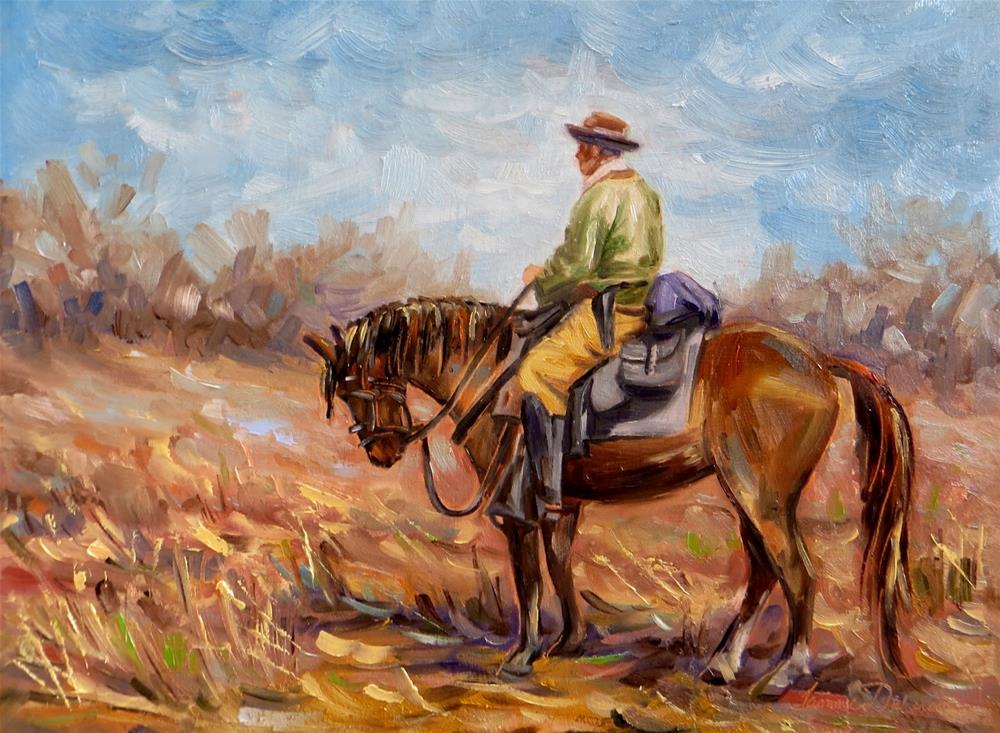 """In the Saddle"" original fine art by Tammie Dickerson"