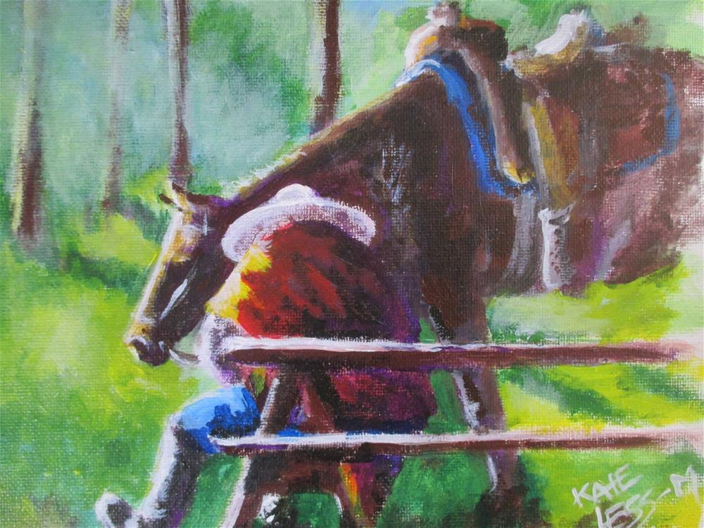 """""""After the Ride"""" original fine art by Kate Less-Madsen"""
