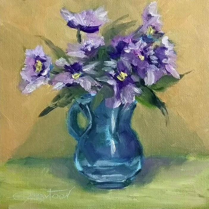 """Flowers"" original fine art by Gabriella DeLamater"