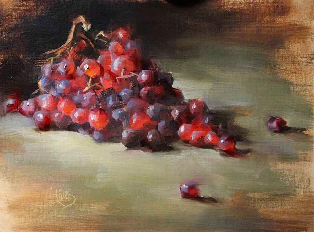 """Grapes"" original fine art by Pamela Blaies"