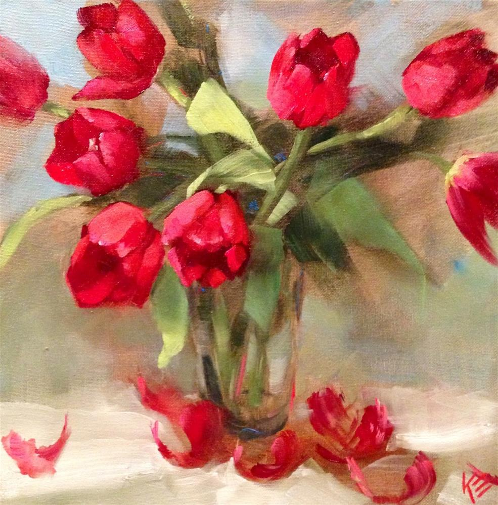 """Tulip Whispering"" original fine art by Krista Eaton"