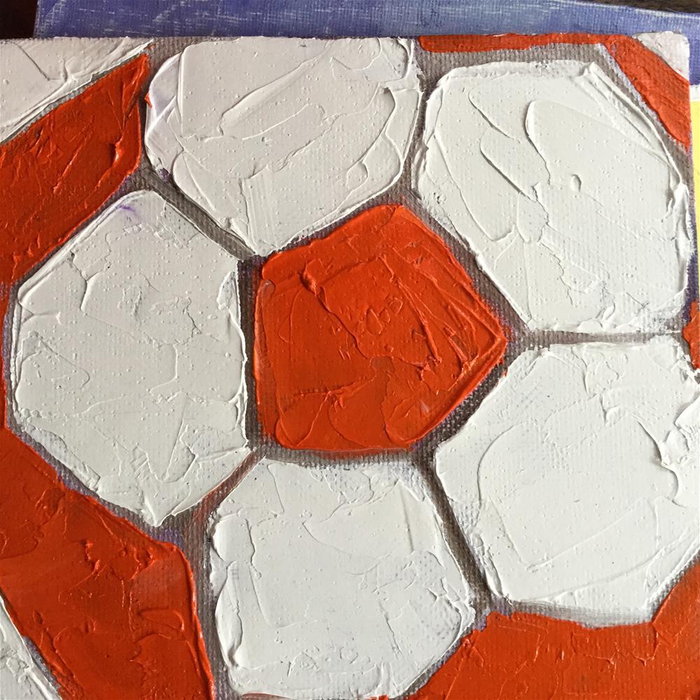 """Red football    "" original fine art by pamela kish"