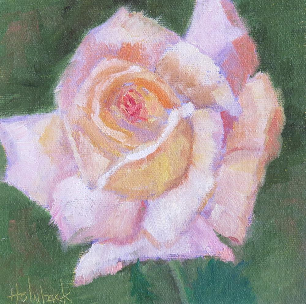 """Backyard Rose"" original fine art by Pam Holnback"