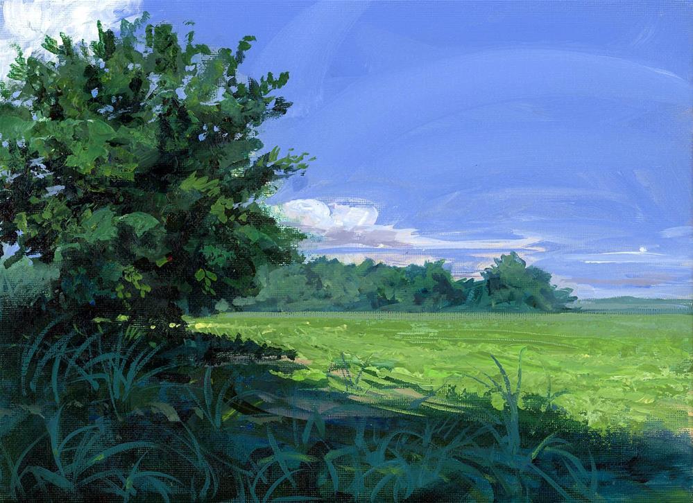 """""""Soy Field in LaVergne TN"""" original fine art by Chris Ousley"""