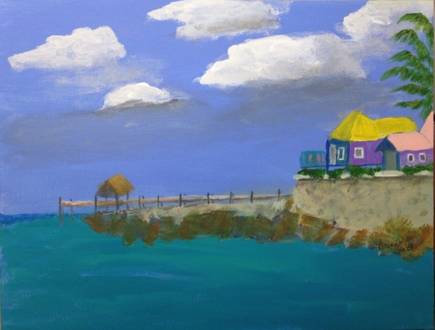 """Nassau Fishing Pier"" original fine art by Brenda Smith"