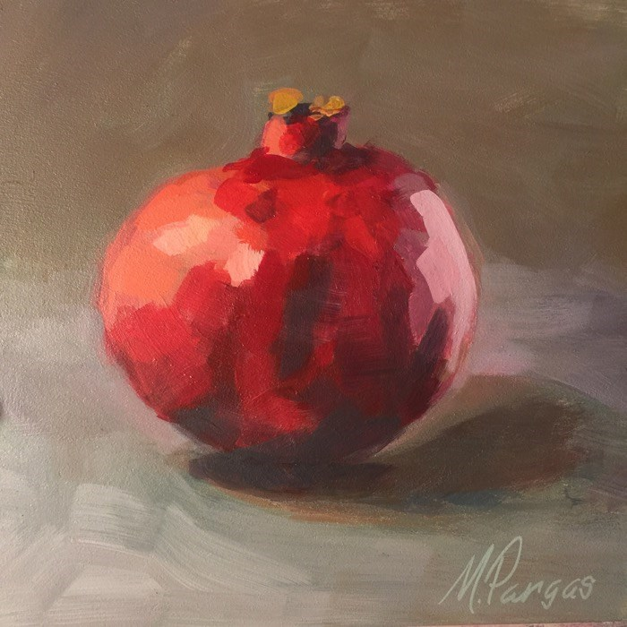 """Portrait of a Pomegranate"" original fine art by Mary Pargas"