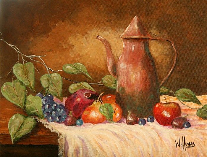"""Copper and Fruits"" original fine art by Sunny Williams"
