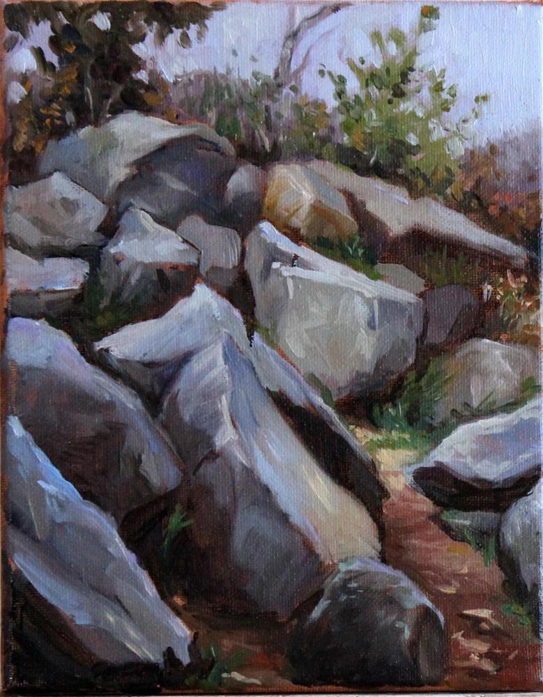 """Rocky Path"" original fine art by Neringa Maxwell"