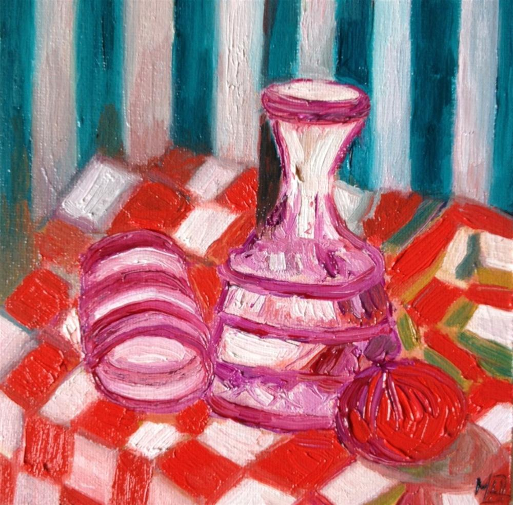 """Bedside water jar"" original fine art by Monica Pinotti"