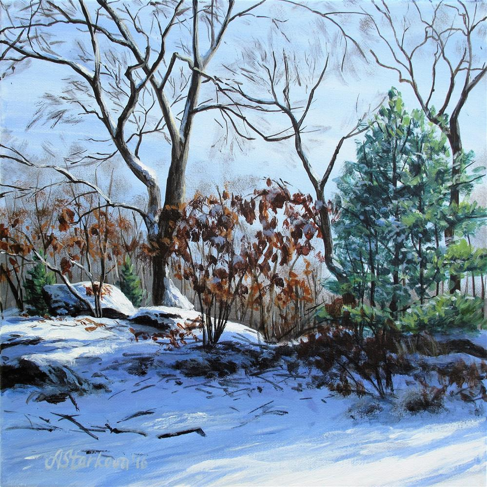 """Winter morning"" original fine art by Anna Starkova"