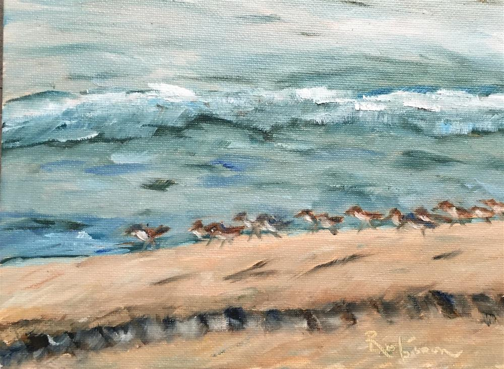 """Just a Morning Walk"" original fine art by Renee Robison"