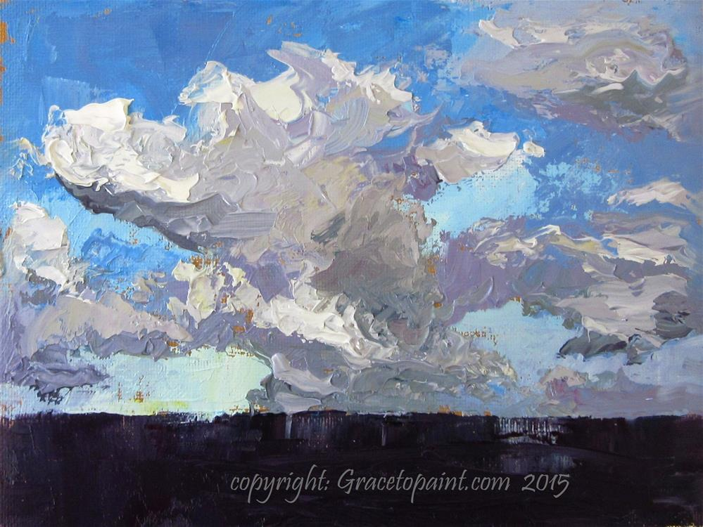 """Sky Versus Sea"" original fine art by Maresa Lilley"