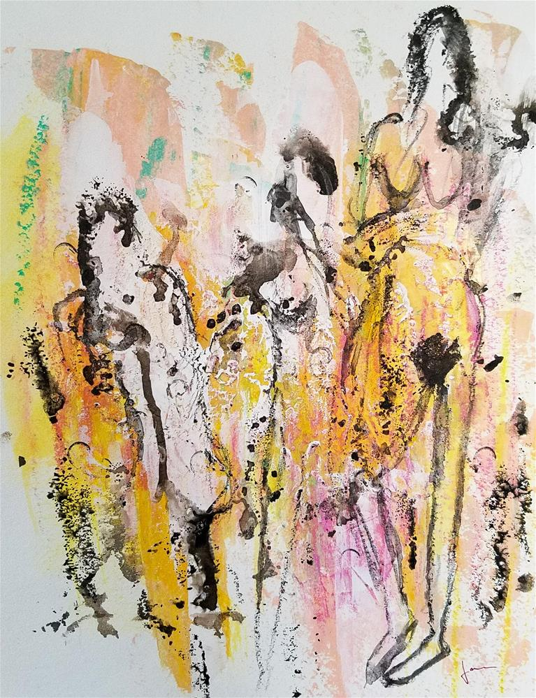 """Three Figures"" original fine art by Janet Gunderson"