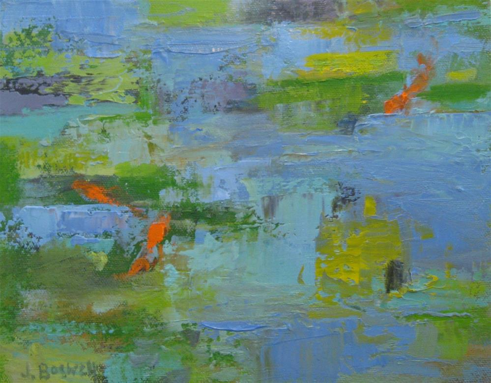 """Like a Pond Series 4"" original fine art by Jennifer Boswell"