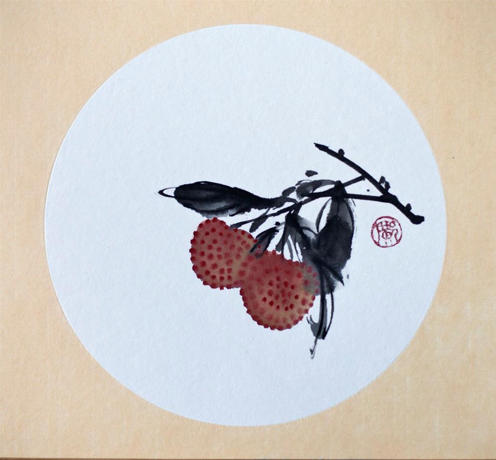 """Lychee"" original fine art by R kwong"