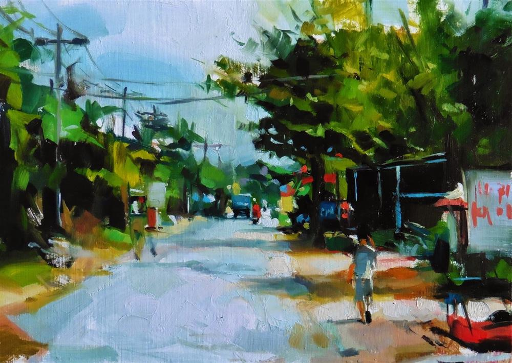 """Vietnam road"" original fine art by Víctor Tristante"