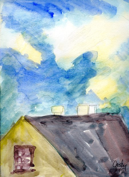 """The Sky Was Fun"" original fine art by Donna Crosby"