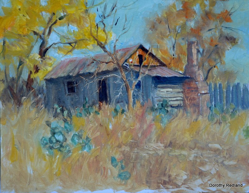 """Buds old shack"" original fine art by Dorothy Redland"