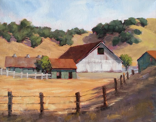 """In the Valley"" original fine art by Deborah Newman"