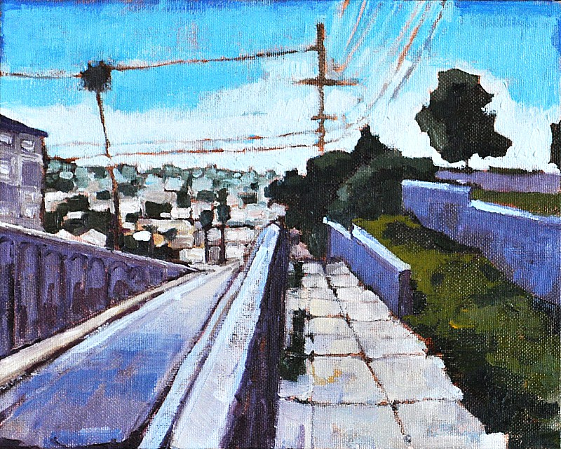 """North Park Urban Landscape, San Diego"" original fine art by Kevin Inman"