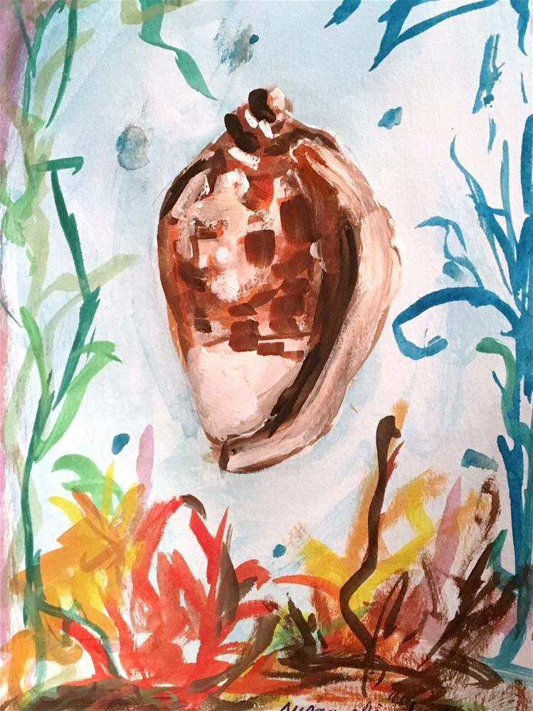 """""""Under the Sea"""" original fine art by Susan Elizabeth Jones"""