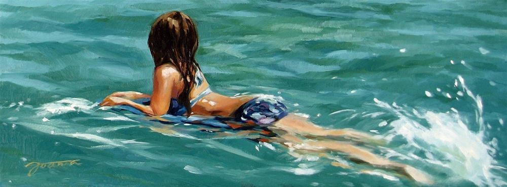 """Paddling"" original fine art by Joanna Bingham"