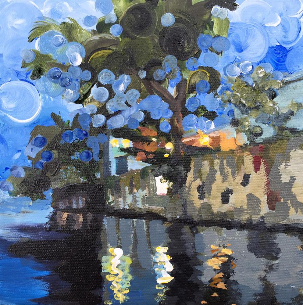 """Experiment 1 - Canal View"" original fine art by Bonnie Masdeu"