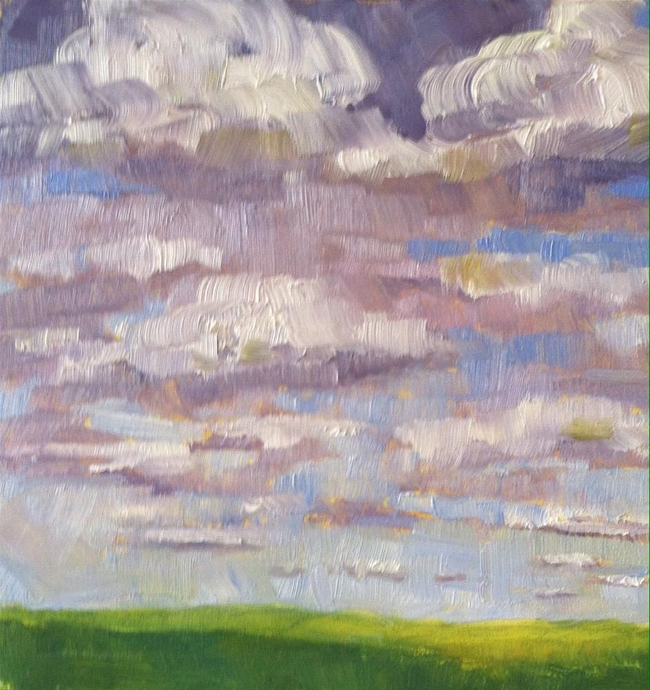 """Pasture after the Storm"" original fine art by Katharine March"