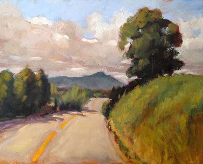 """Old Tiburon Highway"" original fine art by Deborah Newman"