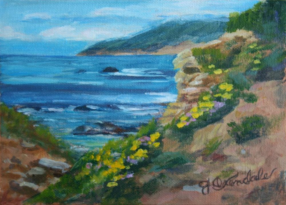 """Ocean View"" original fine art by Jan Oxendale"