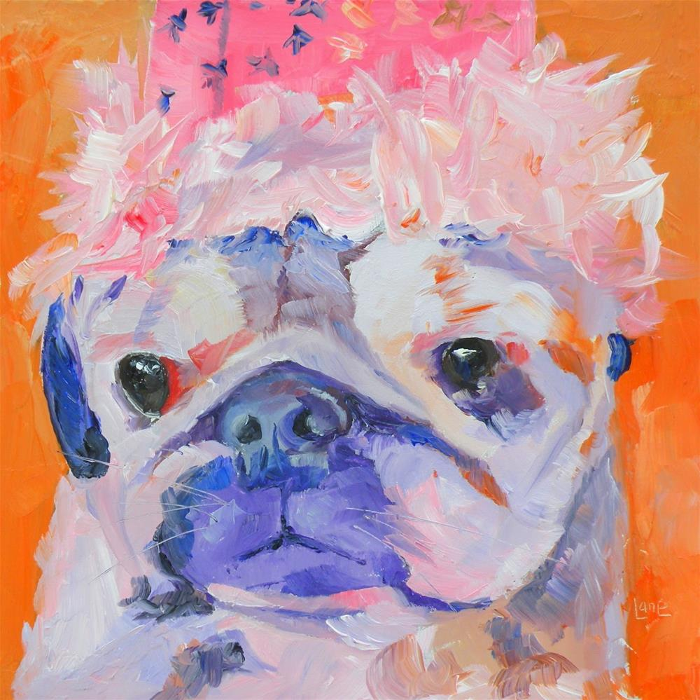 """ALEX 43/100 OF 100 PET PORTRAITS IN 100 DAYS © SAUNDRA LANE GALLOWAY"" original fine art by Saundra Lane Galloway"