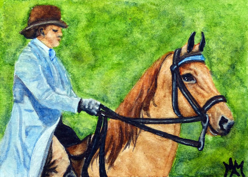 """Saddlebred & Rider"" original fine art by Monique Morin Matson"