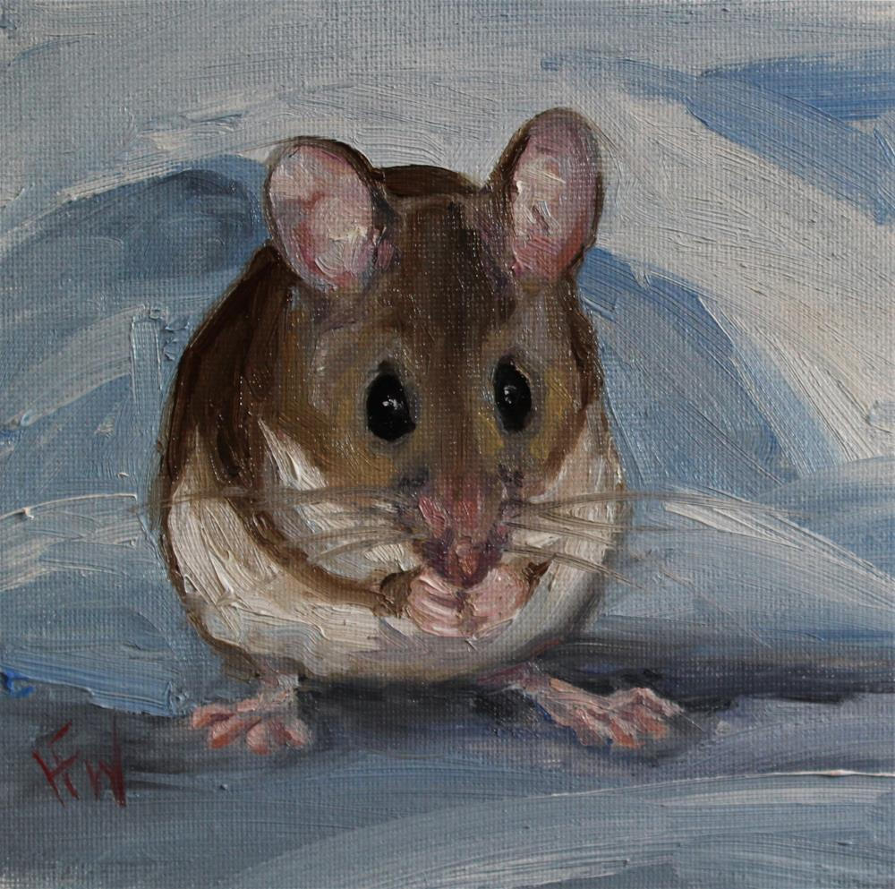 """Woodmouse"" original fine art by H.F. Wallen"