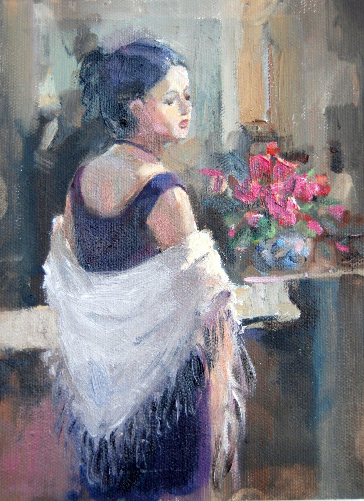 The Shawl original fine art by Julie Ford Oliver