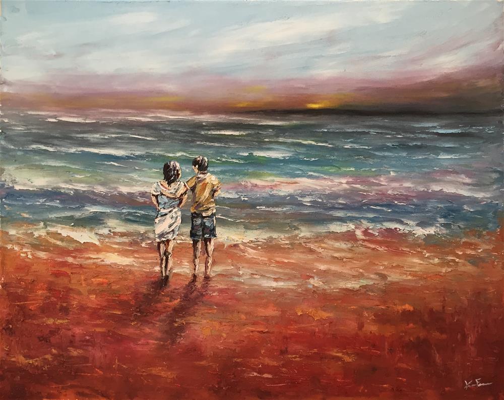 """""""The Perfect Sunset"""" original fine art by Ken Fraser"""