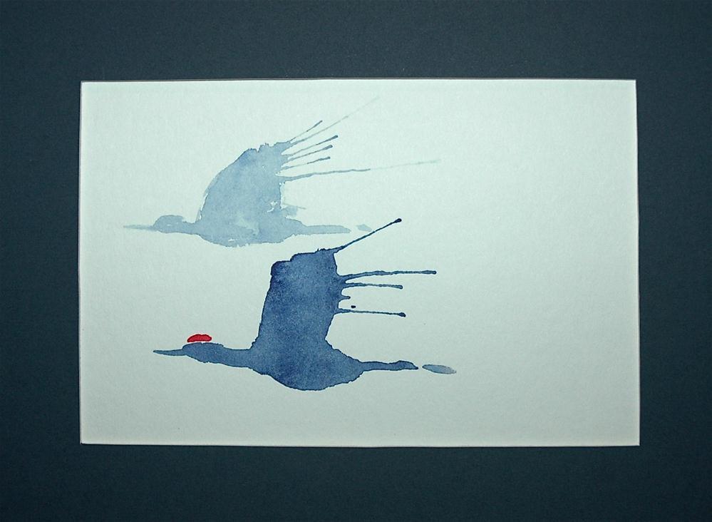 """Crane 13"" original fine art by Ulrike Schmidt"