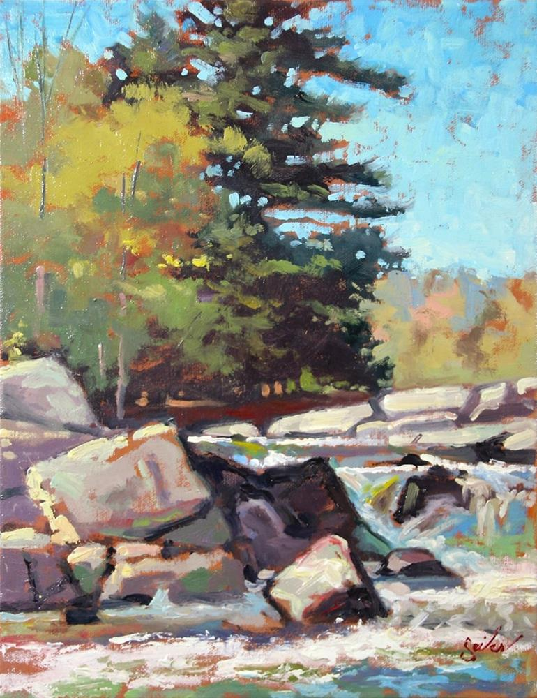 """Early Fall Strong Falls"" original fine art by Larry Seiler"