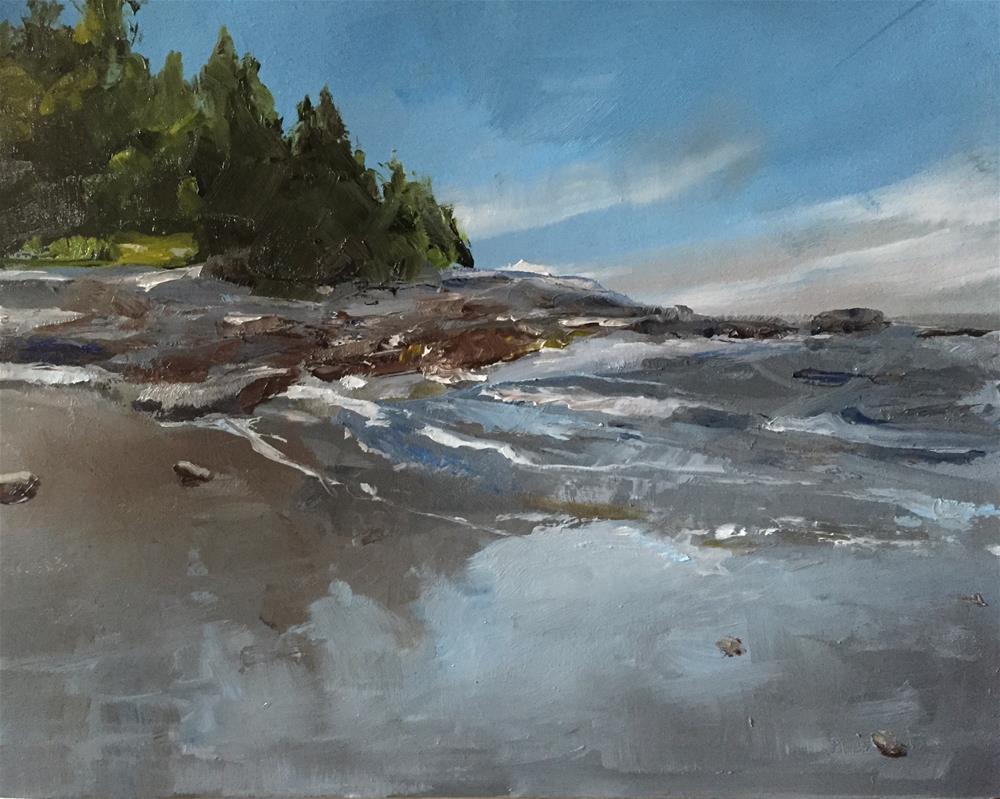 """Coastline"" original fine art by Gary Bruton"