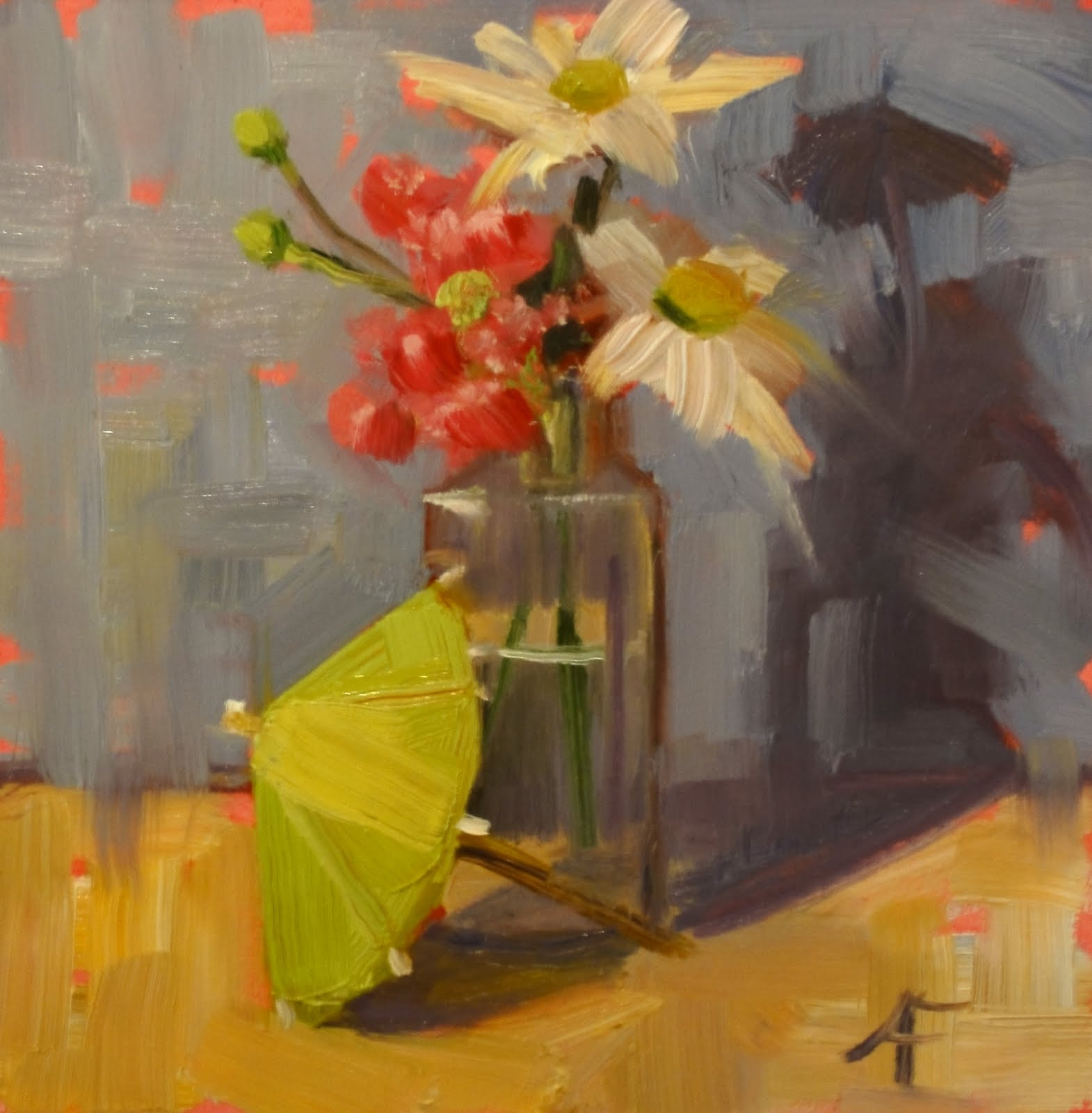 """""""Best of Luck"""" original fine art by Ann Feldman"""
