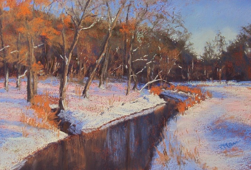"""Cold Stream"" original fine art by Ruth Mann"