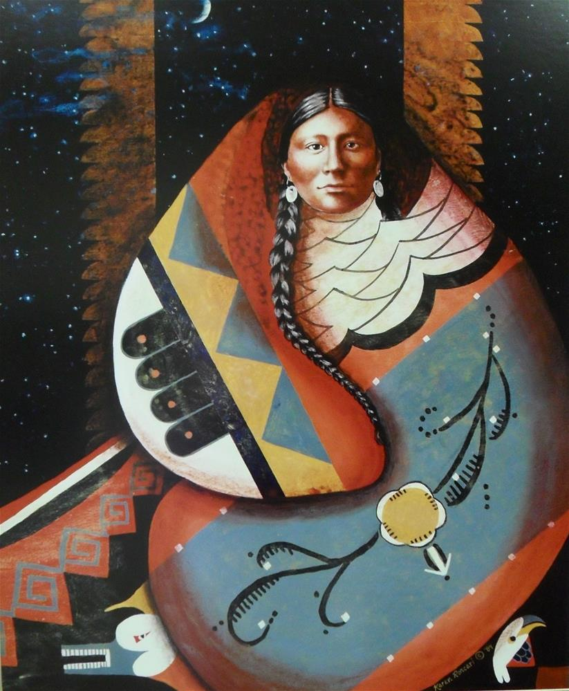 """Night of the Sioux"" original fine art by Karen Roncari"