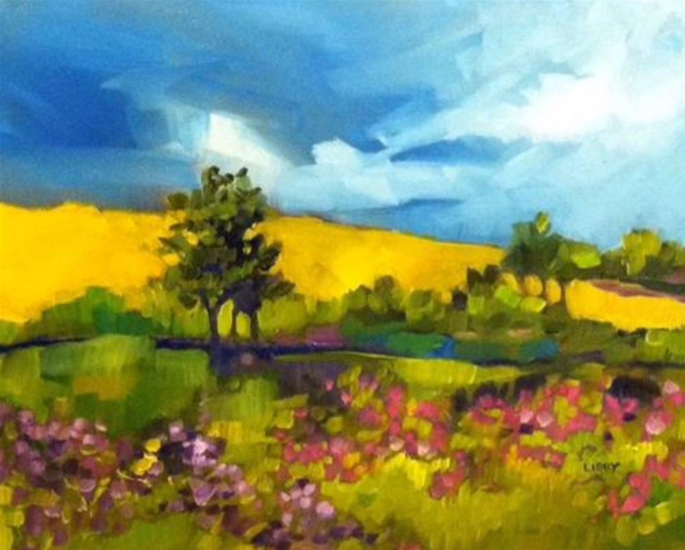 """Spring Storm"" original fine art by Libby Anderson"
