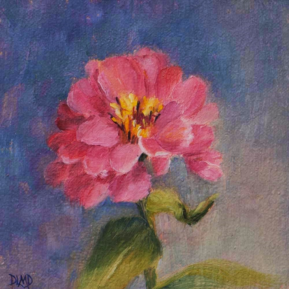 """30 in 30 Challenge, Day 7, Pink Brilliance"" original fine art by Debbie Lamey-Macdonald"