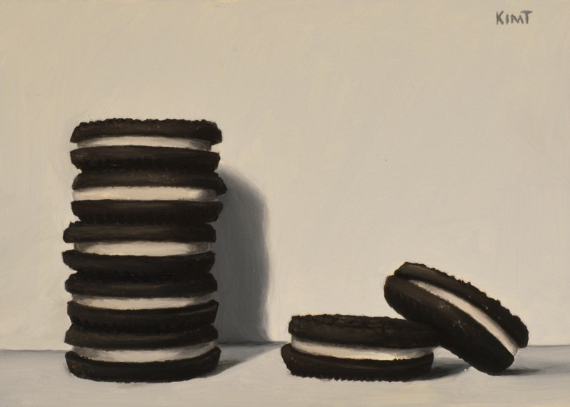 """Cookie Stack 2"" original fine art by Kim Testone"