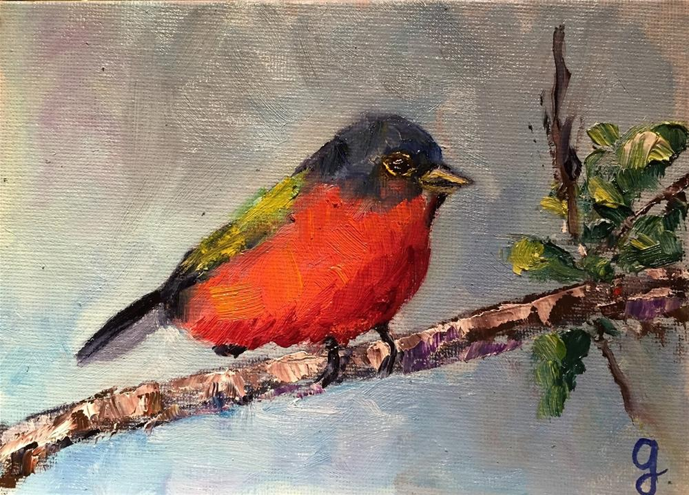 """Painted Bunting"" original fine art by Gayle Lambeth"